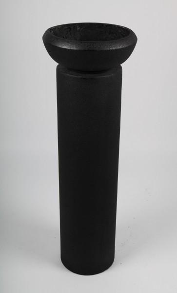 Blumentopf mit Säule, schwarz, 94cm - für Innen und Außen
