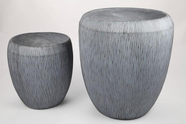 2x Blumentopf, Pflanzkübel, grau, 40/55cm - für Innen und Außen